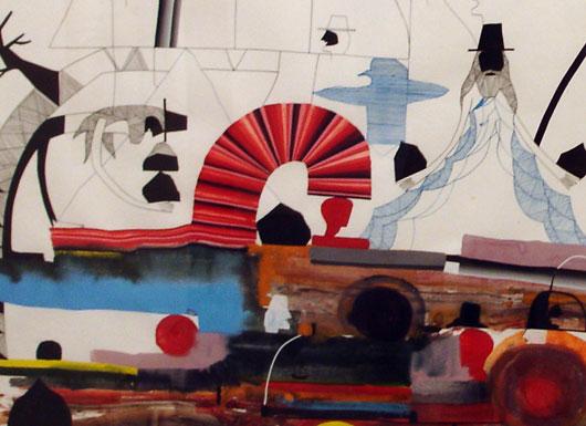 Shaun O'Dell drawing, detail