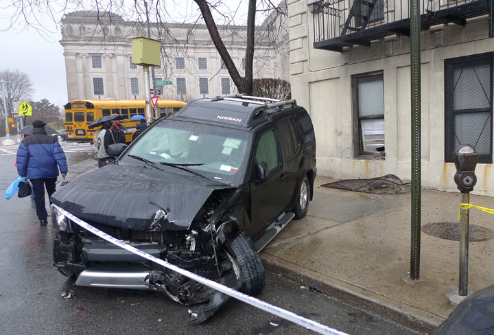 Car accident March 16th at Eastern Pkwy and Washington, Brooklyn