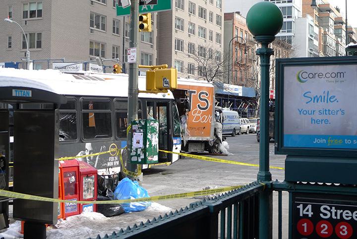 Bus Crash, 12 February, 2014, NYC