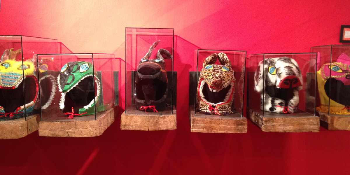 Duke Riley's masks from the Chinese zodiac
