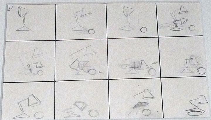 Luxo Jr. Second Storyboard