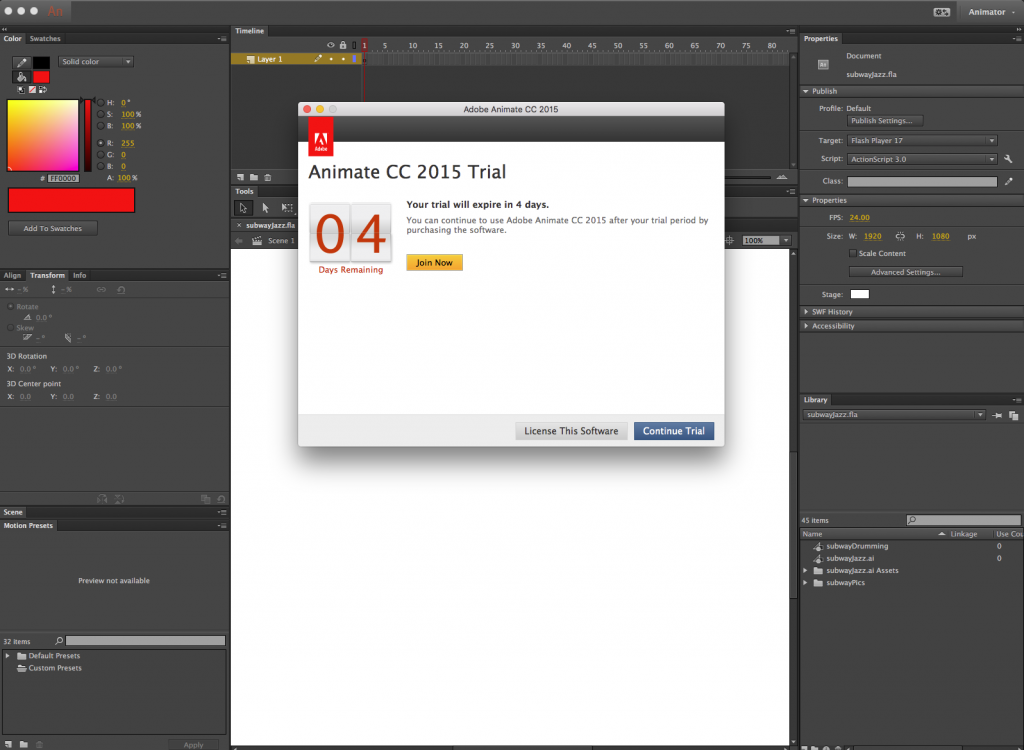 Adobe deleted my copy of Flash and replaced it with a week long trial of Animate, what the fuck?!